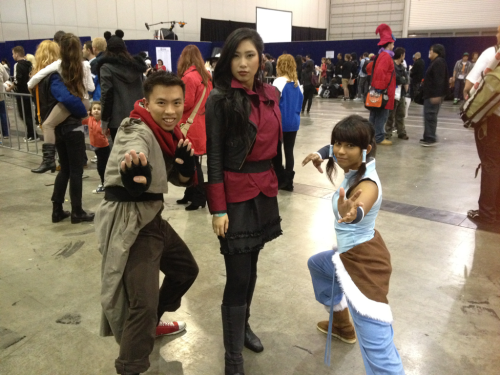 The girl dressed as Korra was seriously adorable.