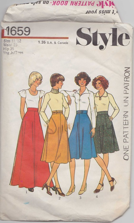 Maxi skirt patterns-1970s