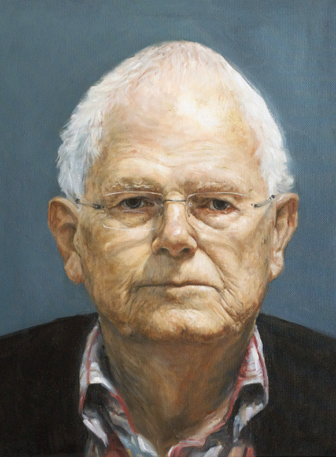 henrychristianslane:  Finished portrait study commission of my grandfather Sir Bruce Slane. Oil on canvas. From life and from photos.
