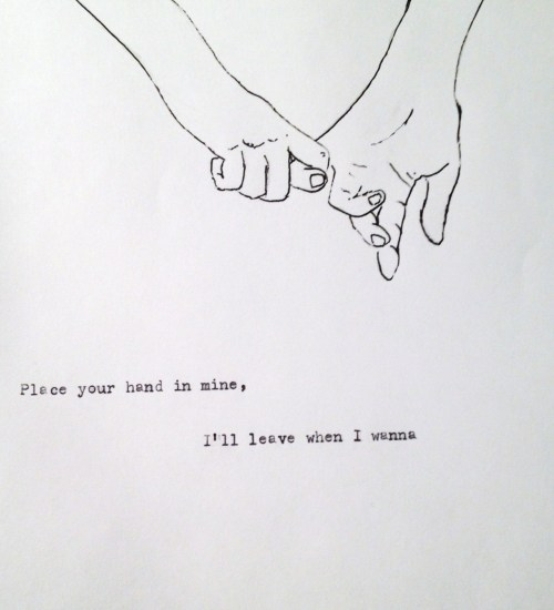 the-amazing-rupee-bush:  I want someone to come hold my hand :(