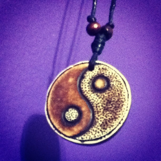 Light & darkness can't coexist with out each other. #yin #yang (Taken with Instagram)