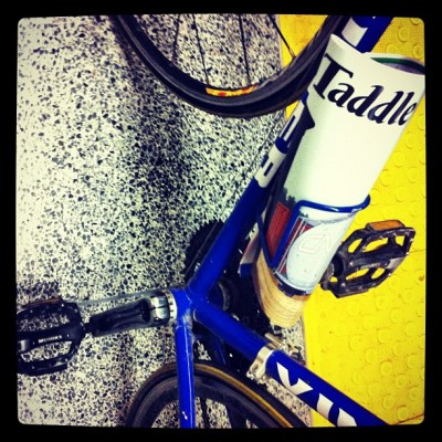 My bike: Double flats and brand-new @taddlecreek (Taken with Instagram)