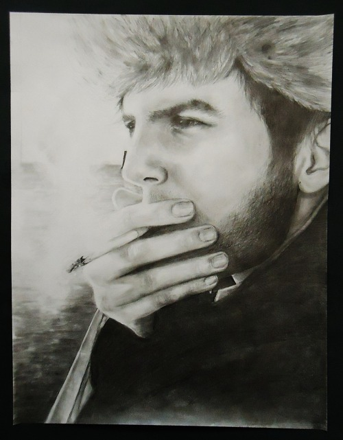 Lighthouse Lookout- A portrait of my boyfriend, done in pencil