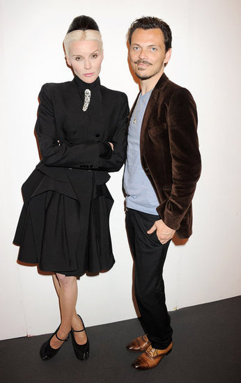 Daphne Guinness and Matthew Williamson at the Graduate Fashion Week Gala in London which shows off collections from more than 1200 graduating BA fashion students from 40 universities and colleges.
