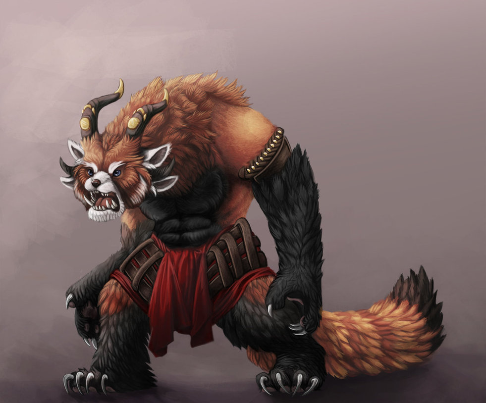 necromantic-charr:  bard-core:  fuckyeahcharr:  Source: http://the-red-panda.deviantart.com/art/Strange-Charr-308541345 Someone did a red panda version of a charr. I'm blogging this as it absolutely must be seen. So fluffy.  IT'S SO FLUFFY I'M GONNA DIE  AAAAAAAAAAAAAH oh my god LOOK AT IT. Can I just… I'm just gonna… just… Sleep on its tail…  Too bad you can't make this in game!