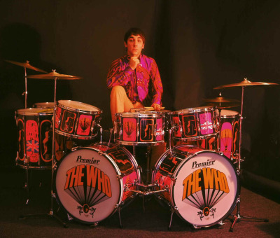 "nymphetaminedream:  antaganostic:  Keith Moon and his drums  just watched 'the kids are alright' the other day… wow. i did not fully grasp the who until now (although i did always like them.) keith moon is what kids these days might call an ""EPIC TROLL"""