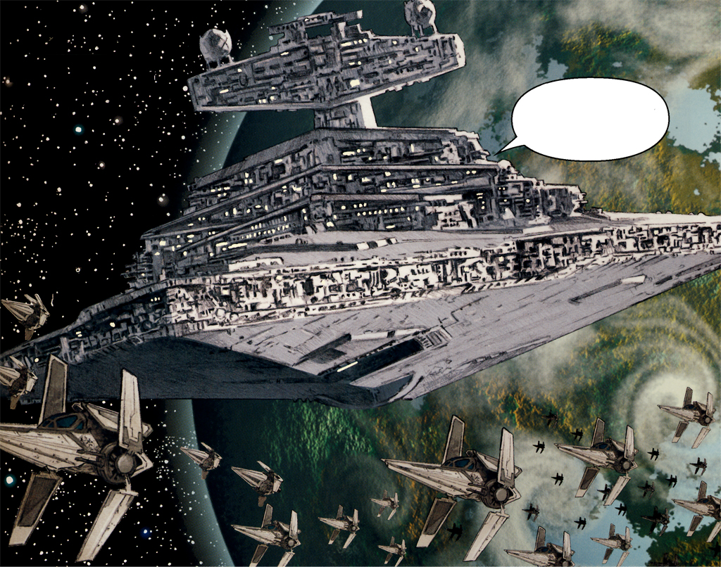 darth-strix:  Imperial Star Destoryer with V-Wing Squadrons