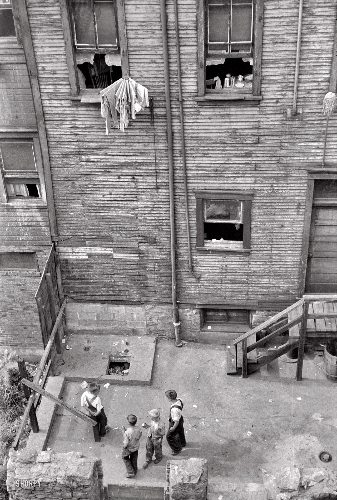 Slums in Pittsburgh, Pennsylvania, 1938. By Arthur Rothstein