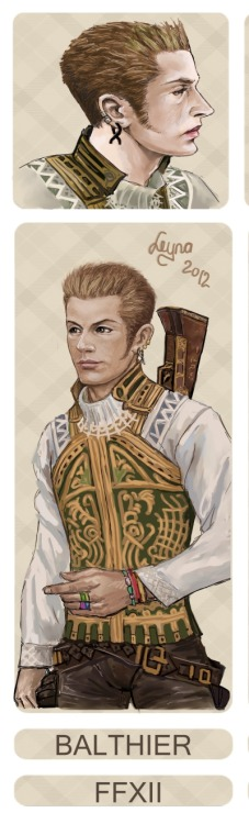 Closeup of the Balthier art from my Dissidia Aces entry