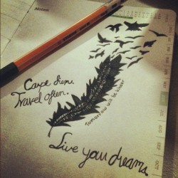 """carpe diem"" #doodle #bored #fromtumblr (Taken with Instagram)"