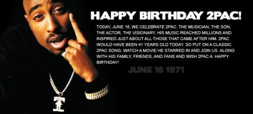 thatcray:  Happy Birthday & R.I.P to the greatest Tupac Shakur …  As Jeezy said on Twitter, Happy G day to Tupac!