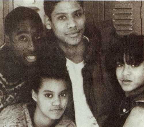 Tupac & friends including Jada Pinkett at the Baltimore School for the Arts