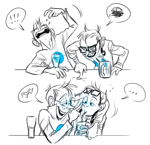 There's a thing goin' around with people drawing drunk Wheatleys so HEY WHY NOT, it's Friday night!  Let's party it up Wheatley style