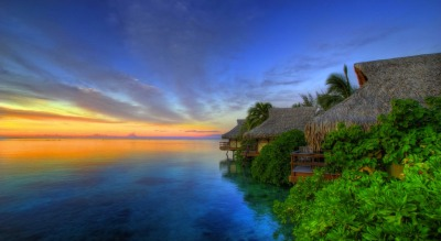 Sunset at Paradise Hotel.  Follow our blog. New travel photos posted daily.