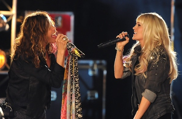 Two of my Favorites! STEVEN TYLER + CARRIE UNDERWOOD! xo @RozOonTheGo