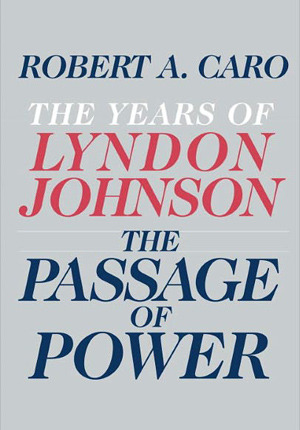 "BOOK REPORT: THE PASSAGE OF POWER By Robert Caro First of all, as impressive as it is of Caro to have written these four volumes, it has to be at least one percent as impressive of me to have read them all.  So let's take a moment out from the Caro parade to send me my due portion of congratulation. I do love these books.  They are an incredible achievement.  The sheer volume of detail amassed is something we never will see again.  That said, they are getting with each volume progressively more frustrating to read.  Part of it is that we losing some of the novelty of the first books as the story moves from obscure distant terrain - Johnson's roots in Texas Hill Country - to the more well-travelled White House years. But it also must be said, the heavy handedness of Caro's writing has gotten pretty frustrating to wade through.  The big arc he was shooting for - that only a man as ruthless and corrupt as LBJ could have accomplished what he did - was clear volumes back so we read with a sense at this point of Johnson falling into step with a story that had been preordained by the muses of history.  Caro hits his major notes over and over - ""for a young man who grew up in desperate poverty"" so that it gets to the point where you can recite in advance the card Caro is going to play at each turn.   But given all that, it's still a pretty amazing book to read.  The intimacy of the portrait of LBJ's relationship with the Kennedys is an amazing picture of these ruthless driven power players locked together in a shotgun marriage. If you feel - as I do, and as you should - that RFK was one of the great demonic figures of the post-War era, the book has plenty of material to aid the drive to bring to Earth the hagiographic and largely false portrait of the saintly Bobby that still reigns today. Presidents by and large are the most demented people to walk the planet.  They all are driven by this combination of very shattered childhoods that were sublimated into insane, unquenchable ambition and need for power.   That seems to apply - with some exceptions - from the founding fathers right through to the current occupant.   They are people who if you met them in any other circumstance besides politics you would think them the weirdest, creepiest people you ever came across.   Picture the most desperate student council member in your school who would go into hysterical tears if another candidate put their posters one centimeter outside of the official poster hanging area.  Politics gives these creepy, broken people a place where they can seem normal and a language about helping the (poor, middle class, God fearing, etc) that makes their weirdness seem like it has a purpose.  And then if they get to be President and they are invested with the aura of immense power and fame, all their weirdness seems in retrospect like the hand of God driving them to soar above mere mortals to their great destiny.   But if Lyndon Johnson had produced a few dozen fake votes less in his 1948 senate race, or if JFK had been caught sleeping with a Nazi spy, or if it had been rainy over Normandy Beach and the DDay landing had failed and Ike had been forced to resign - all these guys would have just been broken, creepy over-excited maniacs scaring people at their local diner.   But instead they were Presidents. For better and worse, there is probably no more Shakespearean run of Presidents than the JKF, LBJ, Richard Nixon trio.  Say what you will about them, these were tortured, conflicted personalities on an epic scale. The amount of high drama to go through the White House from 1961 - 1974 is not something we're ever likely to see again in the smallness  Baby Boom era, and whatever scraps of a world they leave us.  Everything a person wants to know about power and its effects could be found study those 13 years and every student of history should commit them to memory."