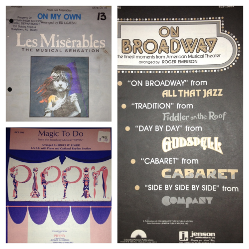 My Collection of Broadway Choral Pieces