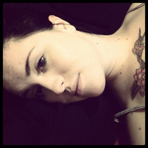 Nothing to do so why not take pictures! #bored #lesbian #girlswithtattoos #girl #tattoos #cherryblossoms #dyke (Taken with Instagram)
