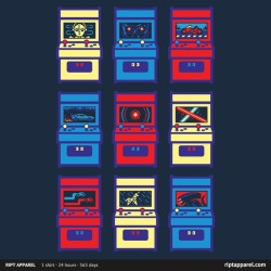 "My ""Sci-Fi Arcade"" shirt is up!  Limited Edition $10!  24 hour only shirt!Can you name all the movies? :D http://www.riptapparel.com/"