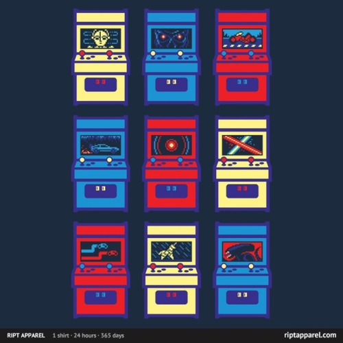 Sci-Fi Arcade T-shirt Created by Drew Wise 24 hour only shirt at RIPT! Limited Edition $10!