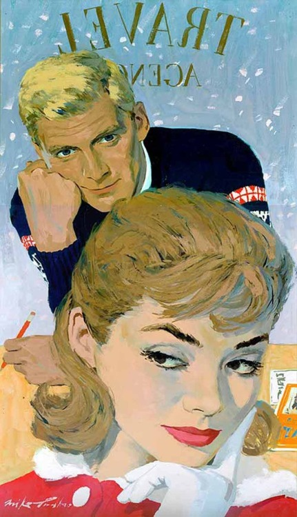 "Saturday Evening Post, ""The Grand Tour"" (1960) Illustration by Mike Ludlow"