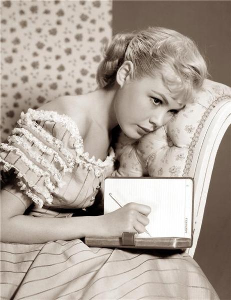 Sandra Dee and her diary - c. 1950s