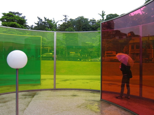 toyamateacherphotos:  Olafur Eliasson's Colour Activity House at the 21st Century Museum of Contemporary Art, Kanazawa.