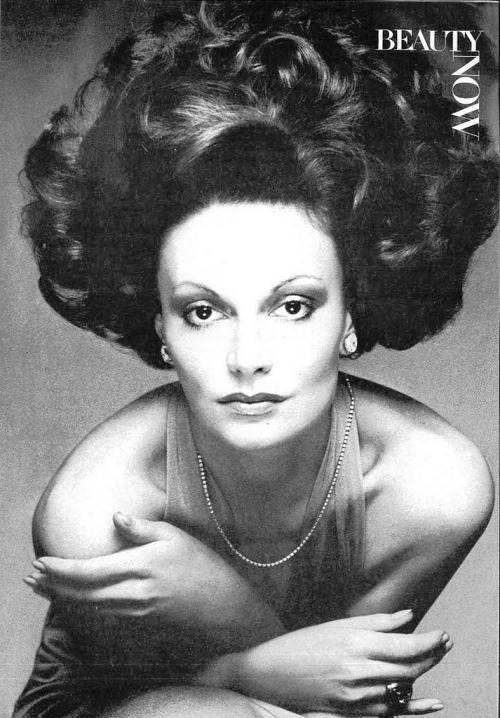 superseventies:  Diane von Furstenberg by Bob Stone for Vogue, January 1974.