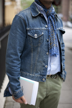 A classic denim jacket