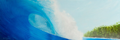 Check out my latest eco surf art painting called Sumatran Hideout. The original and prints are available. Contact me for more info.