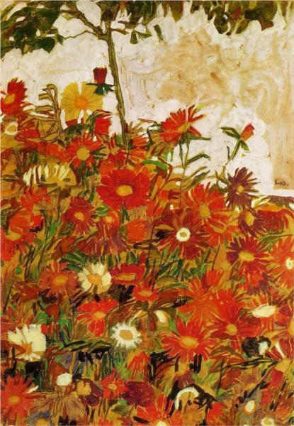 Egon Schiele, Field of Flowers, 1910.
