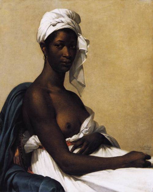 66lanvin:  tobia:  Marie-Guillemine Benoist Portrait of a Negress1799-1800   WALL space……….No.10