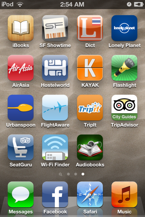 One of the big reasons I got an iPod touch because of these traveling apps…. And I found a place to go surfing next time now! And it is a place I never been as well! Woop!  But I will be sure whether I will be going to the place by this Monday! Idk why I love traveling so much but yay! :)