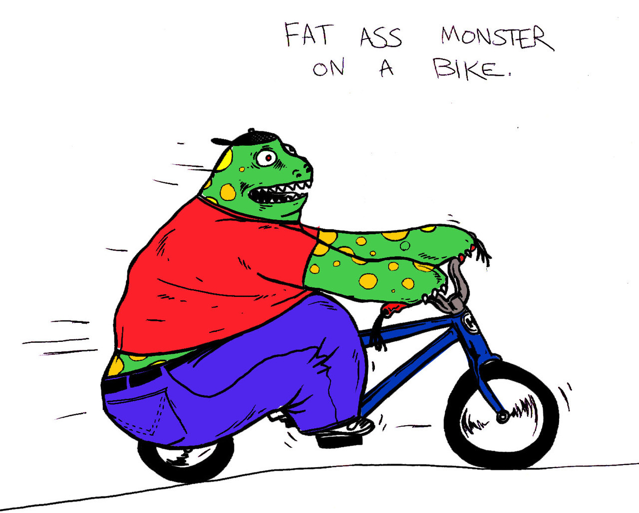 Fat Ass Monster On A Bike - 2010