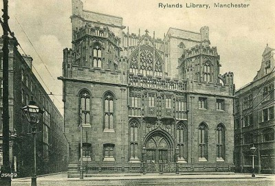 (via John Rylands Library)Somewhere in my internettish-travels the other day I stumbled upon this fantastically gorgeous… library! I know, I thought it was a church too, but oh no, it's filled from basement to little rooms in its towers, with books - BLISS! Until I can have the delicious experience of going inside and spending my own time there I dreamt a littl through drooling over some pictures of it…Happy sighs… imagine what wonders are to be found in its shelves… Happy weekend visionaries ;)thea.xx