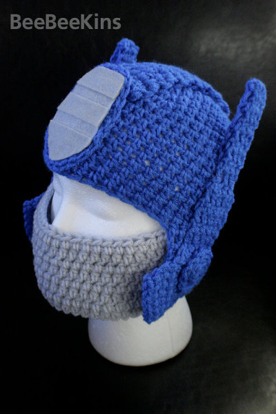 Optimus Prime Crochet Hat
