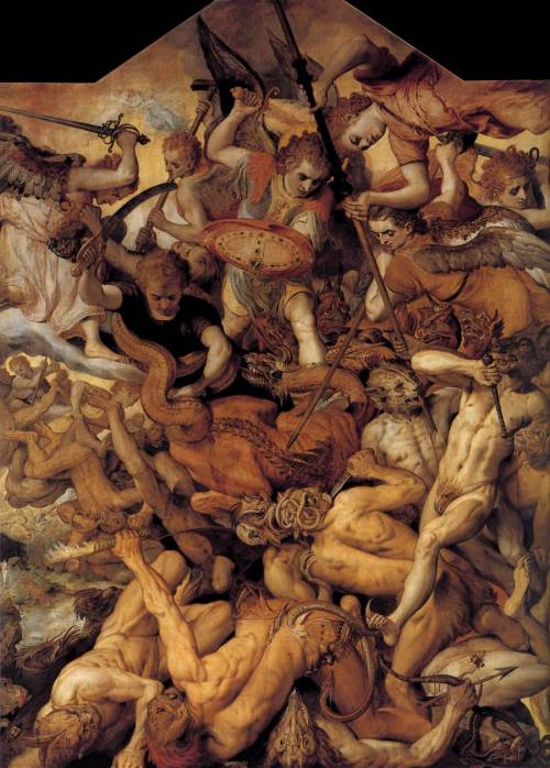 sorornex:  Frans Floris, Het gevecht van de opstandige engelen (The Fall of the Rebellious Angels), 1554.See more