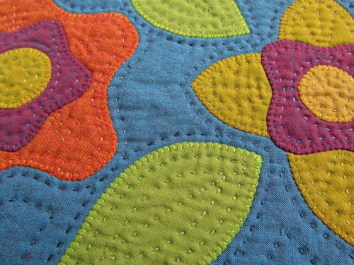 Appliquéd Mini Quilt - Detail  by BooDilly's on Flickr.