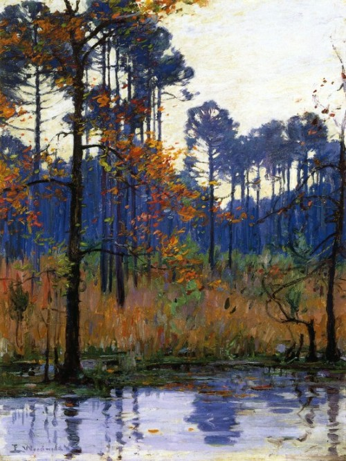 danholepond:  wasbella102:  Ellsworth Woodward; Winter in Southern Louisiana   There is no time on earth anywhere that is as filled with deep wonder and darkness as winter in South Louisiana.