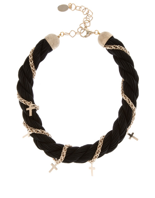 Maria Francesca Pepe Cross Rope NecklaceMore photos & another fashion brands: bit.ly/JgPMpR