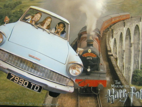 Don't mind me, just FLYING IN THE FORD ANGLIA. Nbd.
