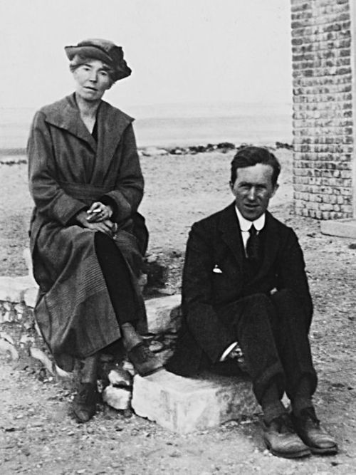 "fuckyeahhistorycrushes:  Gertrude Bell (1868-1926) - Explorer of Arabia, Asia. Archaeologist. Writer. Spy. This women was instrumental in setting up the Hashemite Kingdoms in Jordan and Iraq (although in Iraq the system did not last; Jordan is still under Hashemite rule). She worked with TE Lawrence (in the photograph as well). She is ""one of the few representatives of His Majesty's Government remembered by the Arabs with anything resembling affection."" She was an honorary secretary of the British Women's Anti-Suffrage League. Liaison Officer, Correspondent to Cairo; Oriental Secretary to Baghdad; member of the Orientalists convened by Churchill to attend a 1921 Conference in Cairo on the boundaries of the British Mandate; served on the Iraq British High Commission advisory group; al-Khatun; confidante of Iraqi King Faisal; founder of Iraqi Archaeological Museum and the British School of Archaeology; awarded Order of the British Empire. She wrote works such as Persian Pictures and Syria: The Desert and the Sown. Plus, she had red hair and blue-green eyes. I'm so glad I had an Arabic assignment about her!"