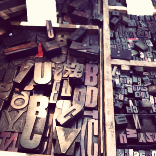letters in a flea market in london