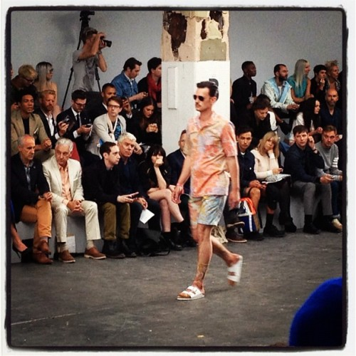 Yep, MORE shorts suits! @ariandsam #londoncollections  (Taken with Instagram)