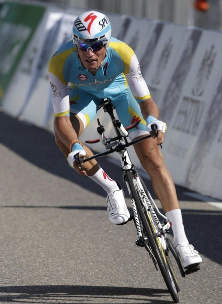 Astana rider Roman Kreuziger of Czech Republic cycles during the seventh and time trial stage of the Tour de Suisse cycling race in Gossau June 15, 2012. (via Photo from Reuters Pictures)