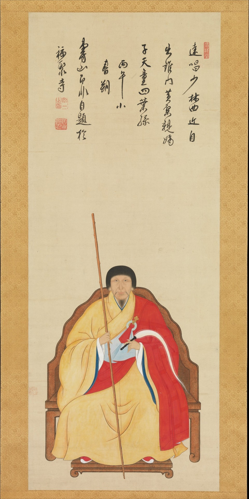 Nyoichi - Portrait of Jifei Ruyi, 1966. Hanging scroll: Ink and colour on silk