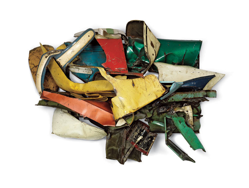 John Chamberlain, Dolores James, 1962, Painted and chromium-plated steel, 184.2 × 257.8 × 117.5 cm