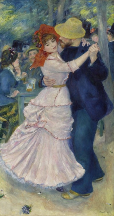petitpoulailler:  1883 Pierre-Auguste Renoir (French Impressionist, 1841-1919) ~ Dance At Bougival