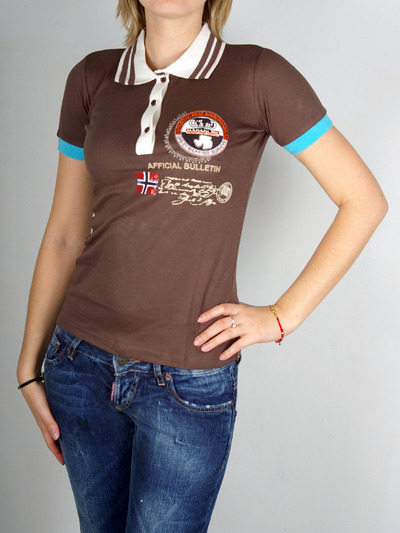Stylish Brown tee with fashionable Collar From Napapijri for femaleMore photos & another fashion brands: bit.ly/JFnGDK