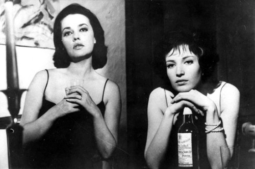 "Monica Vitti and Jeanne Moreau in ""La Notte"""